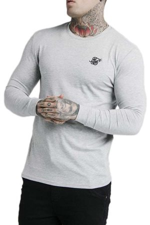 SikSilk Straight Hem Gym L Grey Marl