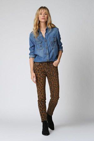 FIVE JEANS 715 Collette Slim Leopard Jeans