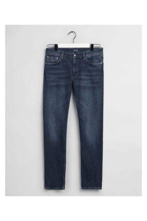 GANT Maxen Extra Slim Fit Jeans Colour: Dark Worn In