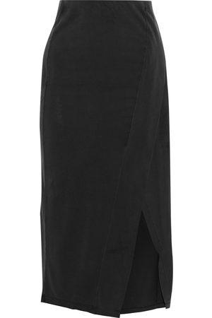 IRO Woman Atoy Wrap-effect Jersey Midi Skirt Size L