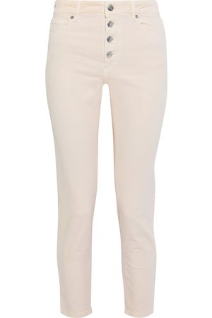 IRO Woman Sorbon Cropped Distressed High-rise Skinny Jeans Blush Size 24