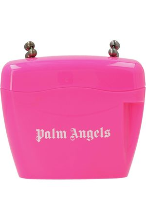 Palm Angels WOMEN'S PWNQ002S21PLA0013201 FUCHSIA POLYURETHANE SHOULDER BAG