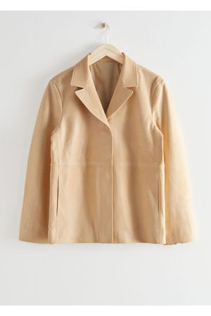 & OTHER STORIES Relaxed Buttoned Leather Jacket