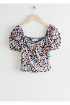 & OTHER STORIES Floral Print Puff Sleeve Top