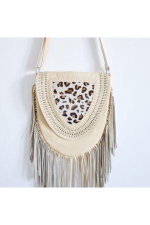 Bon Bon Fistral Ecru Leopard Tassel Bag