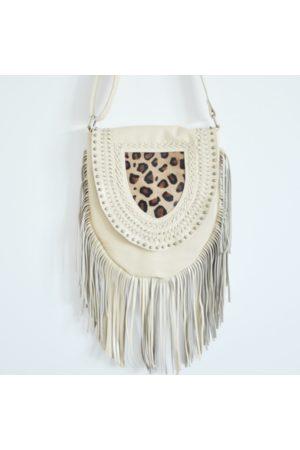 Bon Bon Fistral Women Purses - Ecru Leopard Tassel Bag
