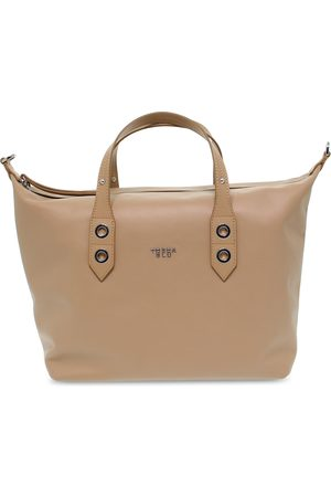 Tosca Blu WOMEN'S TOSCAB242NOC BEIGE LEATHER TOTE