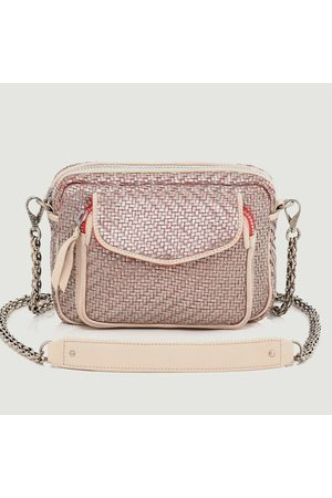 CLARIS VIROT Charly braided leather bag Argent