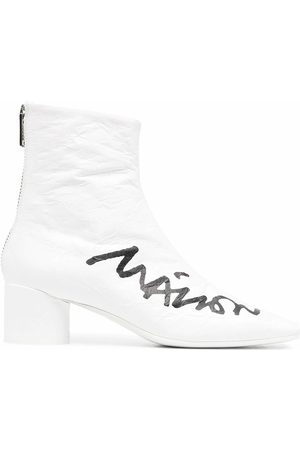 Maison Margiela WOMEN'S S66WU0067P4168H1527 LEATHER ANKLE BOOTS