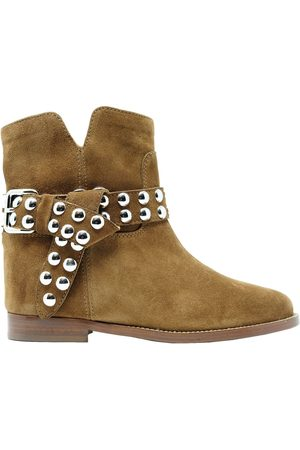 Via Roma Women Ankle Boots - WOMEN'S 35462BROWN SUEDE ANKLE BOOTS