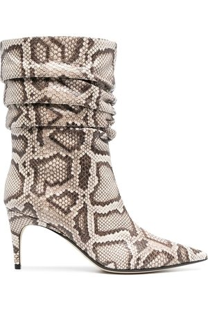 Sergio Rossi Women Ankle Boots - WOMEN'S A93100MCPS029535 BEIGE LEATHER ANKLE BOOTS