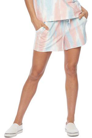 WASH LAB Women Shorts - Women's Water Paint Tie Dye Shorts