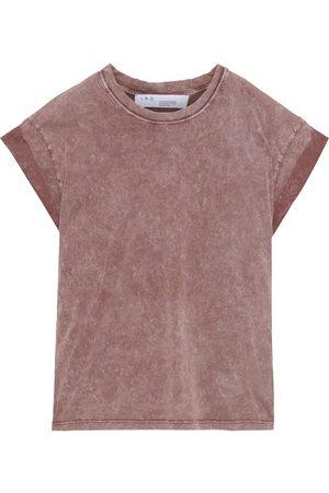 IRO Women Short Sleeve - Woman Castle Bleached Cotton-jersey T-shirt Antique Rose Size L