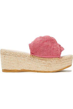 MANEBI Manebí Woman Twisted Cotton-blend Canvas Espadrille Wedge Sandals Antique Rose Size 38