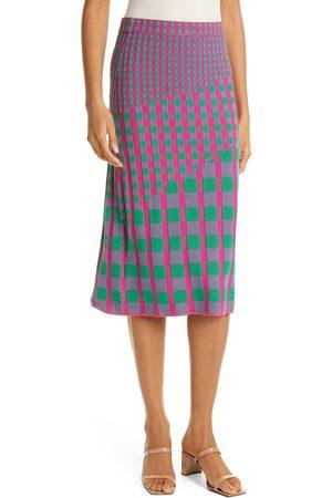 DVF Women's Rosa Ribbed Knit Skirt