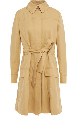 Moschino Women Trench Coats - Woman Embellished Cotton-blend Gabardine Trench Coat Size 38