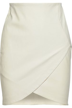 IRO Women Mini Skirts - Woman Olbers Wrap-effect Leather Mini Skirt Ivory Size 34