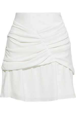 IRO Women Mini Skirts - Woman Lussac Layered Ruched Crepe Mini Skirt Size 36
