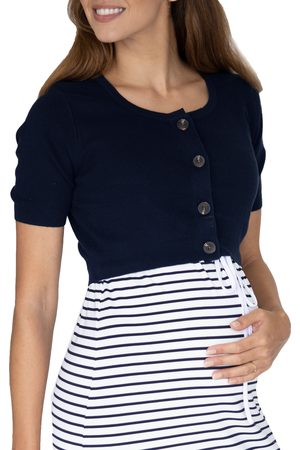 Angel Maternity Women's Short Sleeve Maternity/nursing Cardigan