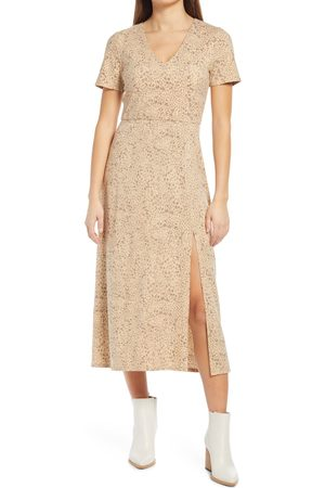 WAYF Women's X Bff Alexa Cheetah Midi Dress