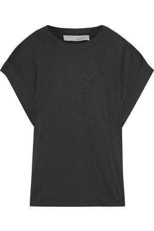IRO Women Short Sleeve - Woman Sparks Cotton-jersey T-shirt Charcoal Size M