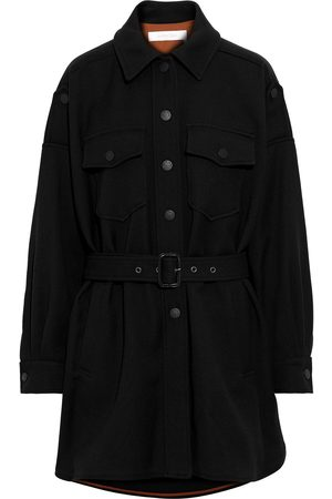 See by Chloé Women Coats - See By Chloé Woman Belted Cotton-blend Gabardine Coat Size 40
