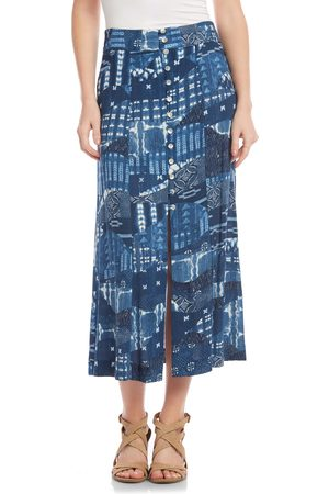 Karen Kane Women's Front Button Midi Skirt