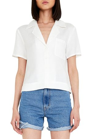 Bardot Women's The Short Sleeve Linen Blend Shirt