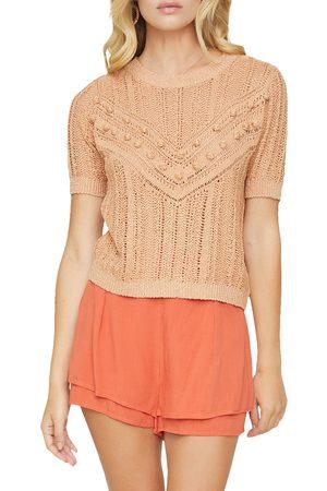 Lost + Wander Women's Blissful Days Bobble Knit Short Sleeve Sweater