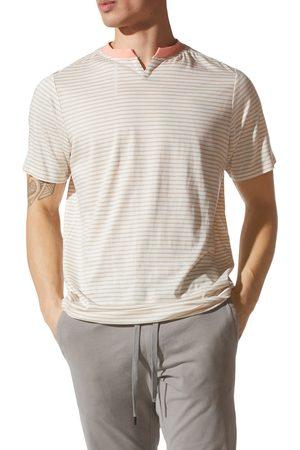 Good Man Brand Men's Slim Fit Stripe Razor V-Notch T-Shirt