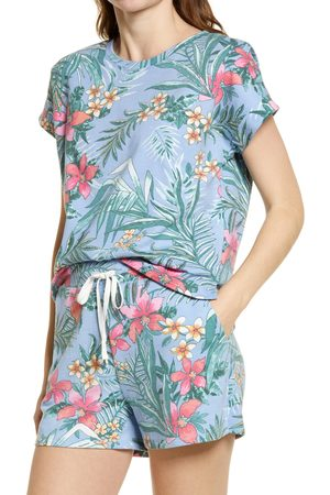 Beachlunchlounge Women's Tropical French Terry Print T-Shirt