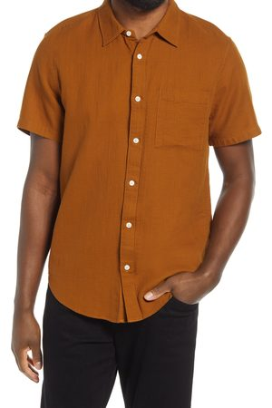 Madewell Men's Perfect Textured Short Sleeve Button-Up Shirt