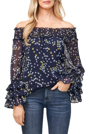 CE&CE Women's Scattered Daisies Off The Shoulder Blouse