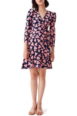 DVF Women's Charlene Puff Sleeve Wrap Dress