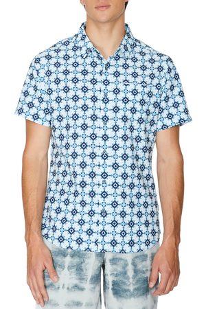 7 Diamonds Men's Kaleidoscope Short Sleeve Button-Up Shirt