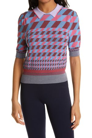 DVF Women's Jenny Collared Sweater