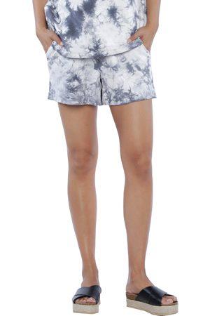 WASH LAB Women's Water Paint Tie Dye Shorts
