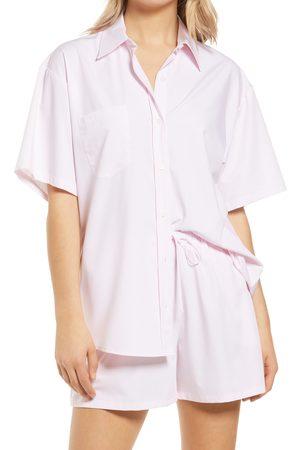 WAYF Women's Plana Button Front Shirt