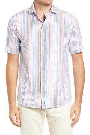 Johnnie-o Men's Wayland Stripe Short Sleeve Button-Up Shirt