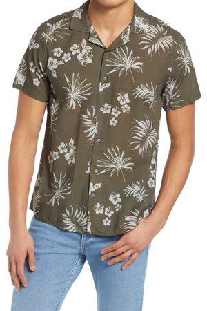 Nicola Benson Men's Print Button-Up Short Sleeve Camp Shirt