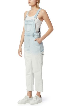 Hudson Women's Mix Faded Ankle Overalls