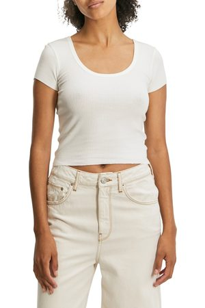 BDG Urban Outfitters Women's Rib Scoop Neck T-Shirt