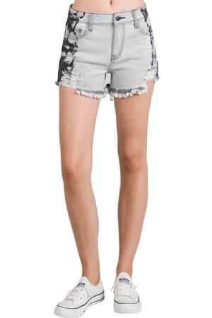 L.T.J. Women's L.t.j Side Tie Dye Cutoff Denim Shorts