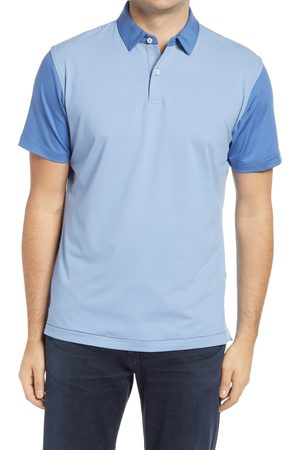 Peter Millar Men's Doxy Colorblock Short Sleeve Stretch Button-Down Polo