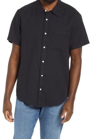 Madewell Men's Perfect Textured Short Sleeve Button-Up Shirt