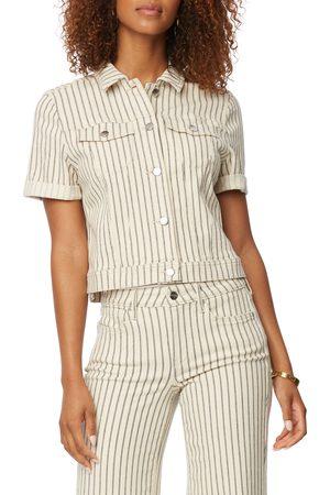 NYDJ Women's Ticking Stripe Short Sleeve Top