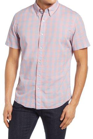 Faherty Men's Movement Regular Fit Check Short Sleeve Button-Up Shirt