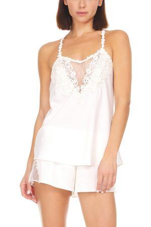 Flora Nikrooz Women's Showstopper Satin Short Pajamas