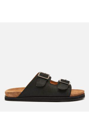 WALK LONDON Men Sandals - Men's Sunset Leather Double Strap Sandals