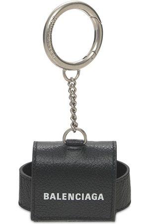 Balenciaga Men Rings - Logo Leather Airpods Case
